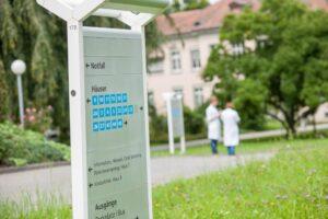Kantonsspital Aarau Hinweistafel Detail